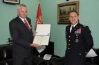 "New USA Defence and Land Forces Attache Hands Colonel Branislav Anocic with the ""Legion of Merits"""